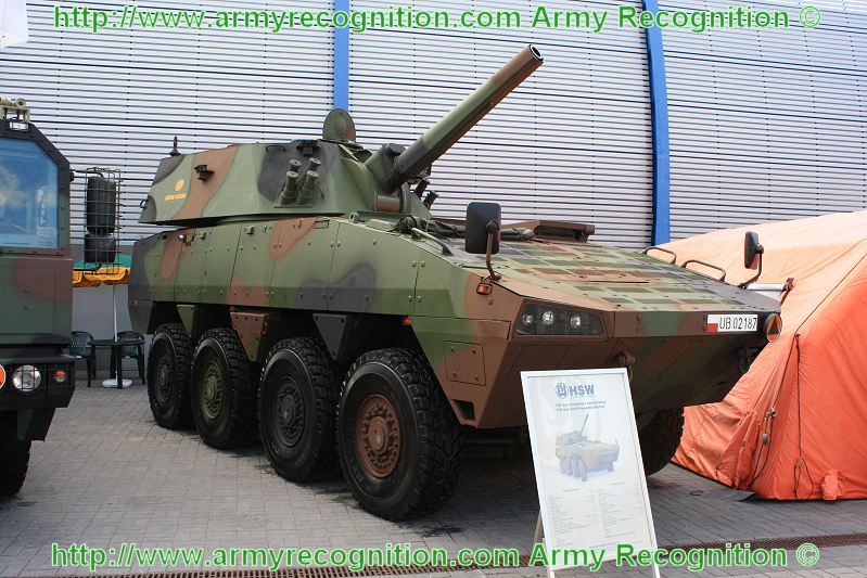 HSW 120 mm self propelled mortar carrier Rosomak wheeled armoured vehicle MSPO 2010 defense exhibiotion Poland 002