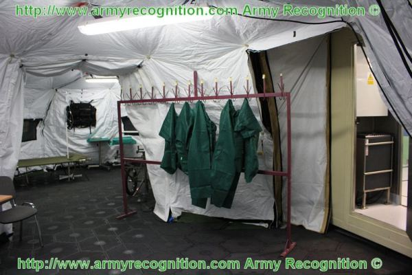 This Role 1 medical field facility is based on 20-feet container with attached tent system with short deployment time meeting the requirements of modern ... & MSPO 2010 dressing room medical team on battlefield container tent ...