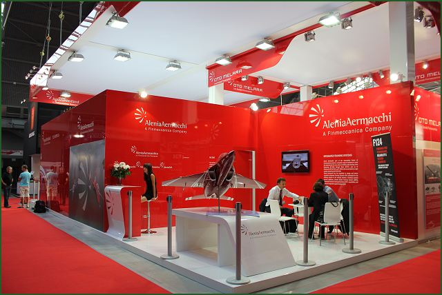 Basic Exhibition Booth : The m advanced trainer light combat aircraft alenia