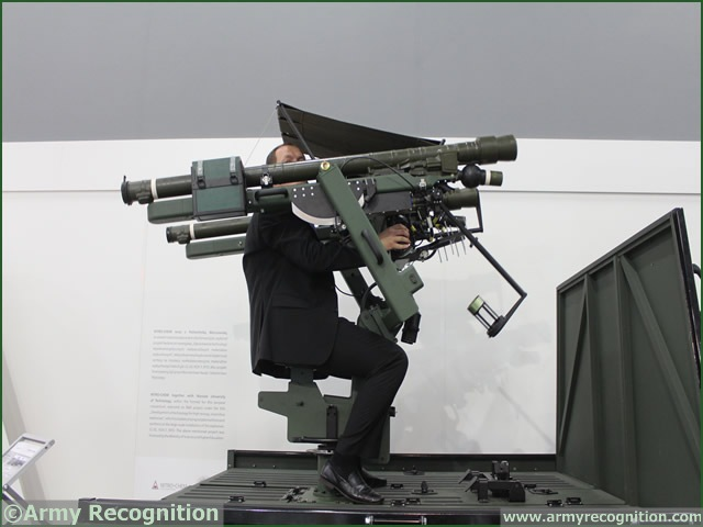 "At MSPO 2013, International Defense Exhibition in Poland, Mesko a member of Polish Defence Holding is showing a new variant of its twin round mobile air defence manpads system ""Kusza"" or Crossbow mounted on the rear of a 4x4 vehicle."