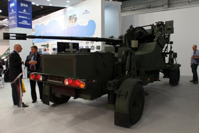 "Pit-Radwar, one of the biggest and most important companies in the sector of Poland's defence system, unveils its latest innovation in anti-aircraft gun systems. ""Hydra"" remote-controlled anti-aircraft system 35-mm gun is designed for fighting the air targets (aircraft, fixed- and rotary-wing, manned and unmanned, cruise missiles) flying at very low, low to medium altitudes."