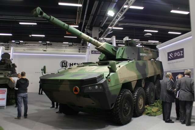 "Once again, MSPO demonstrates the close relationship of the Belgian and Polish industries, thanks to WZM and its well-known ""Wolf"" Fire Support Vehicle which unifies the Patria AMV chassis and the CMI CT-CV 105 mm turret."