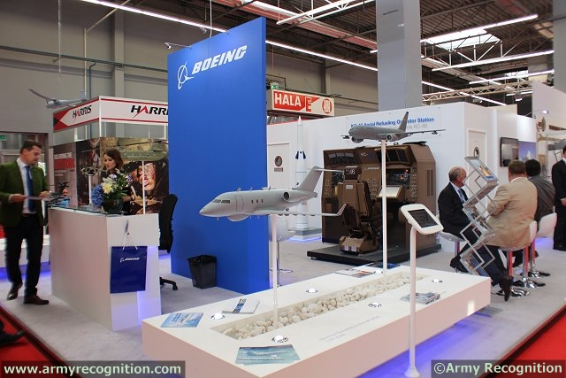 At MSPO 2014, the International Defense Industry Equipment which takes place from the 1 to 4 September 2014 in Kielce, Poland, Boeing highlights several of its defense products and services including the AH-64 Apache and AH-6i combat helicopters, the KC-46A Pegasus aerial refueling tanker, and unmanned aerial systems such as the ScanEagle, among other programs.
