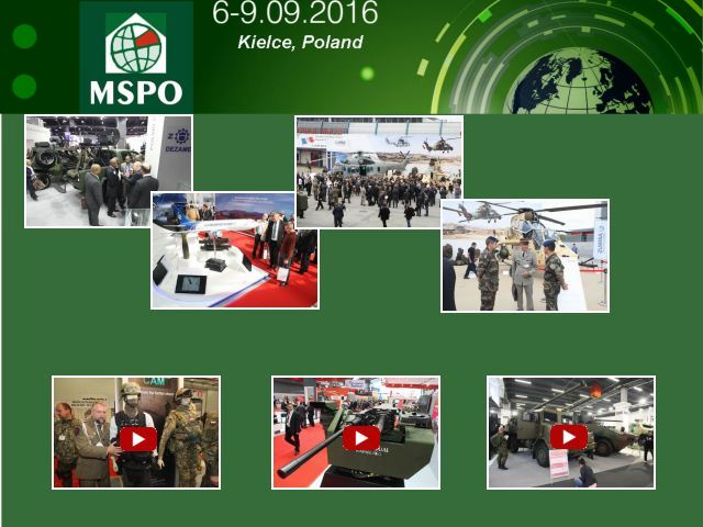 MSPO 2016 Official Web TV Television pictures video International Defence Industry Exhibition 6  to 9  September 2016 Kielce Poland Polish army military defence security equipment