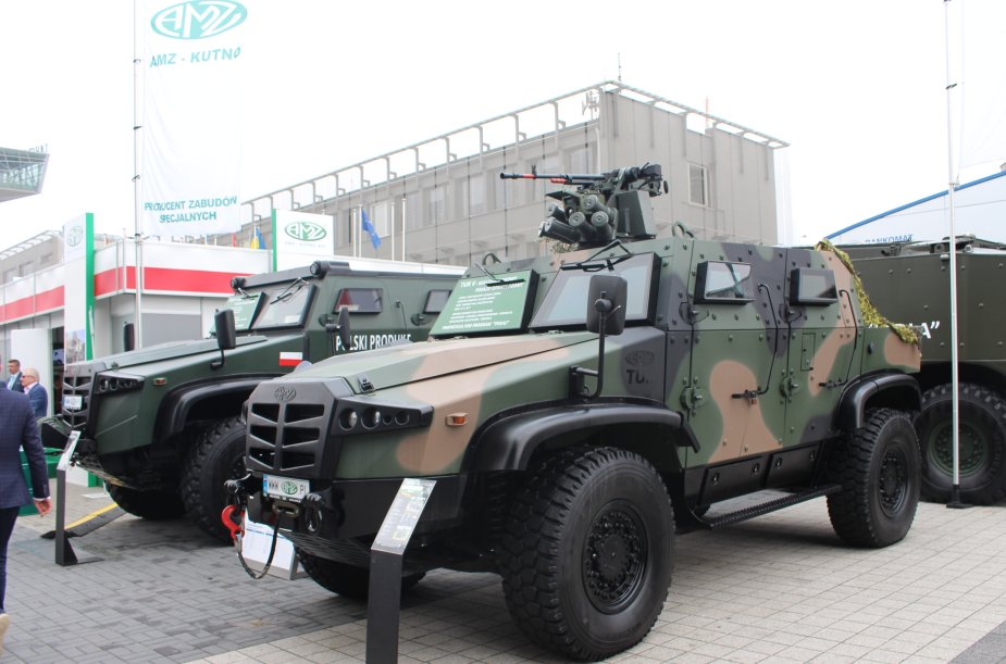 AMZ KUTNO unveils a new version of its Tur V multi purpose Armoured vehicle at MSPO 2017 925 001