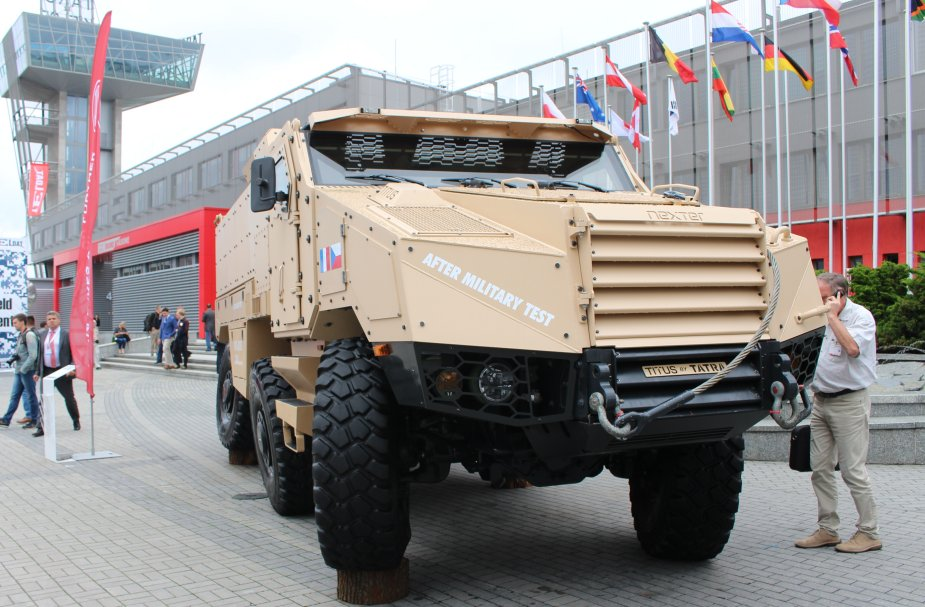 Nexter showcases its TITUS 6x6 armoured vehicle at MSPO 2017 925 001