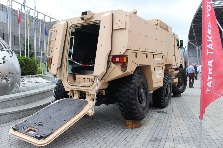 Nexter showcases its TITUS 6x6 armoured vehicle at MSPO 2017 925 002