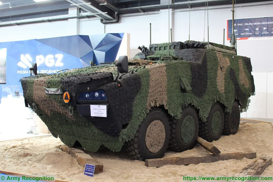 Command Post variant based on Rosomak 8x8 armored vehicle MSPO 2018 Kielce Poland 925 001