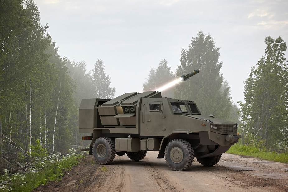 MBDA presents new concept of mobile tank destroyer equipped with Brimstone missiles MSPO 2020 925 002