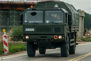 442.32 Jelcz 4x4 multirole military cargo truck technical data sheet pictures video specifications description information photos images identification intelligence Poland Polis army industry military technology