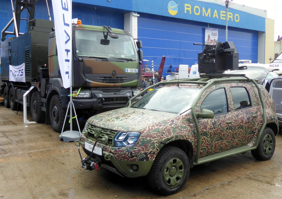 Dacia Duster 4x4 with Romanian Agil 7.62mm RCWS