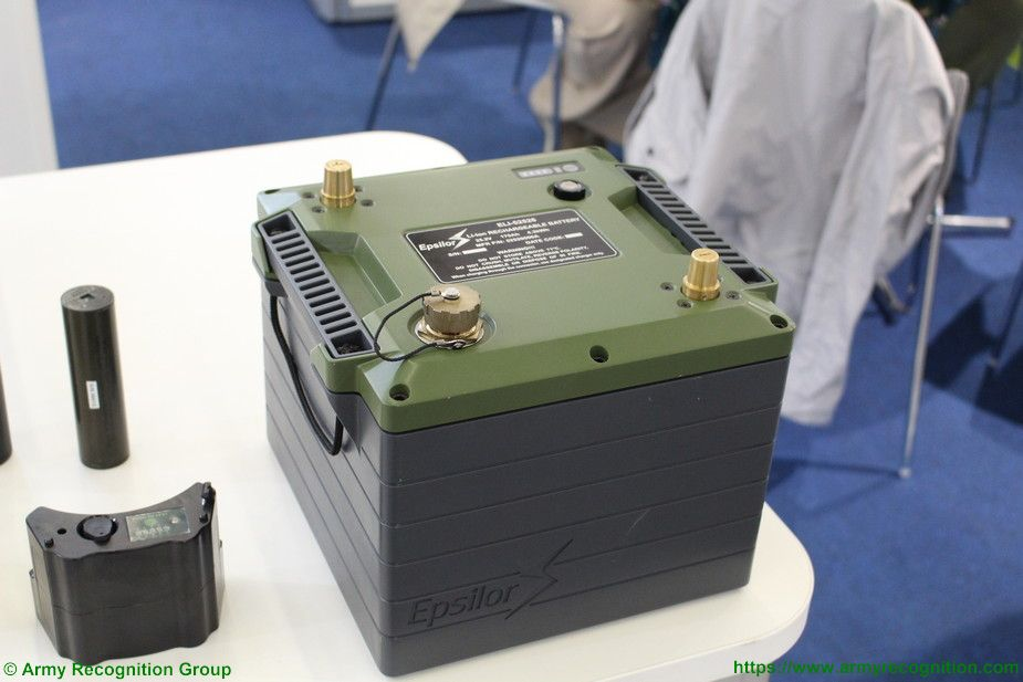 Eurosatory 2018 Epsilor 6T battery fitted on a Mercedes command vehicle