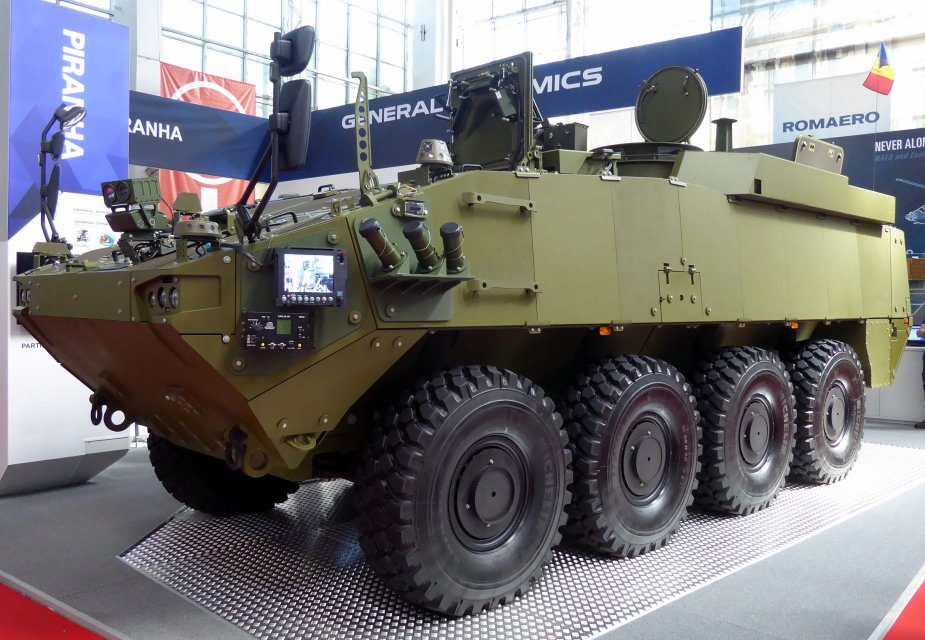 Mowag Piranha 5 displayed at BSDA 2018