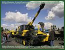 2S3 Akatsiya 152 mm self-propelled howitzer technical data sheet specifications information description pictures photos images intelligence identification intelligence Russia Russian army defence industry military technology tracked armoured vehicle