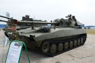 2S34 Chosta Self-propelled 120 mm mortar carrier armoured vehicle technical data sheet specifications information description pictures photos images video intelligence identification Russia Russian Military army defence industry military technology equipment
