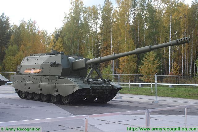 2S35 Koalitsiya-SV is a new generation of Russian-made self-propelled tracked howitzer