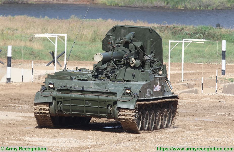 2s4 Tyulpan 240mm self propelled mortar carrier tracked armoured vehicle Russia Russian 925 001