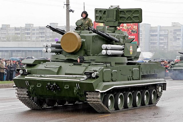 The 2S6 Tunguska 2K22 is a Russian-made self-propelled air defence system which combines gun and missile armament. The development of the 2S6 Tunguska began in 1970 after a request by the Russian army for a new self-propelled anti-aircraft weapon system to replace the old ZSU-23-4 self-propelled anti-aircraft gun.