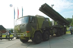 9A52-2T Smerch Tatra 816 multiple rocket launcher system technical data sheet information description pictures photos images identification intelligence Russia Russian army truck 10x10