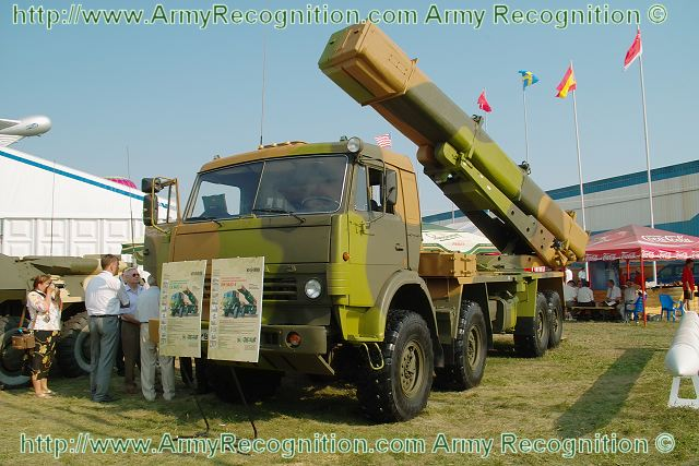 Tornado CV 9A52-4 MRLS multiple rocket launcher system data sheet specifications information description pictures photos images identification intelligence Russia Russian army defence industry Tornado-G truck 8x8 Kamaz 6350