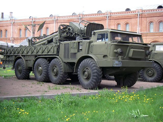 9T452 transloader vehicle for BM-27 Uragan 220mm MLRS