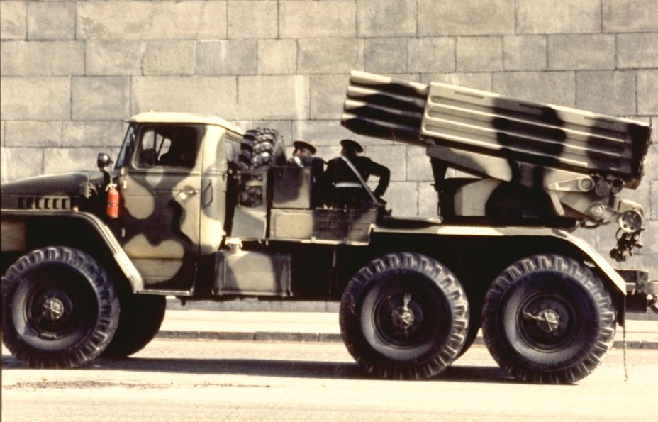 Multiple rocket launcher system ural truck russia russian army 005