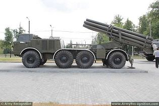 BM-27 9P140 Uragan 9K57 220mm MLRS Multiple Launch Rocket System technical data sheet specifications information description pictures photos images video intelligence identification Russia Russian Military army defence industry military technology equipment