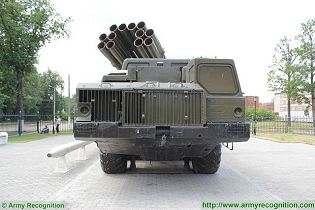 BM-30 9K58 Smerch 300mm multiple rocket launcher system truck 8x8 MAZ-543M Rusia Russian army front side view 002