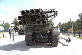 BM-30 9K58 Smerch 300mm multiple rocket launcher system truck 8x8 MAZ-543M Rusia Russian army rear back side view 002