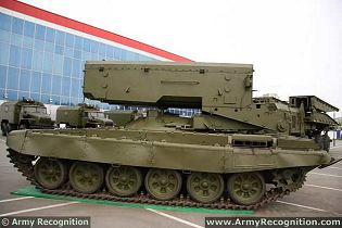 TOS-1A BM-1 Soltsepek  heavy flamethrower armoured vehicle technical data sheet specifications information description pictures photos images video intelligence identification Russia Russian army defence industry military technology
