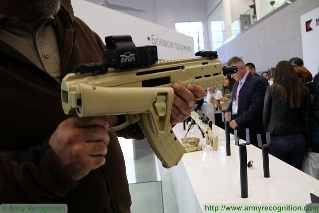 Another new assault rifle unveiled by Kalashnikov at Army 2016 is the new MA 5.45x39 caliber compact assault rifle.