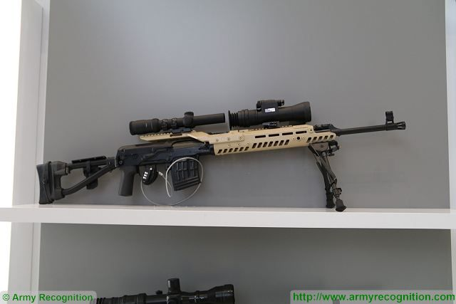 The new sniper rifles of Kalashnikov at Army 2016 are the SVD and the SVDS with modernization kit which includes folding shoulder stock with adapter, pistol grip, mount, forend, sound suppressor, new magazine, safety lever and sling.