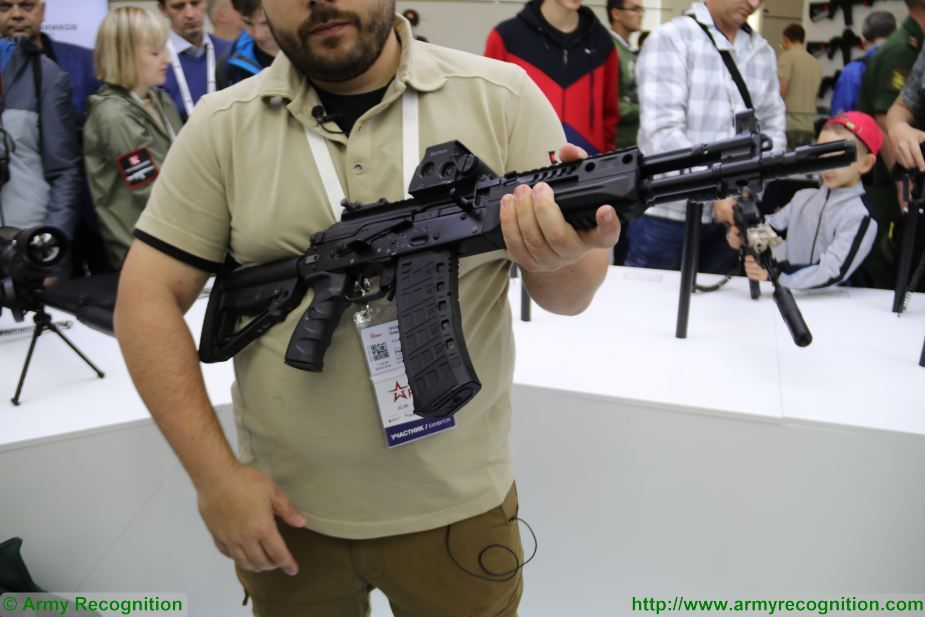 The Russian firearms manufacturer Kalashnikov Group presents the AK-12K and the AK-15K at Army-2017, the International Military Technical Forum near Moscow, Russia. The AK-12K compact assault rifle is based on the Kalashnikov AK-12 and it was especially designed for Special Forces and to be used as individual weapon for crew of combat vehicles.