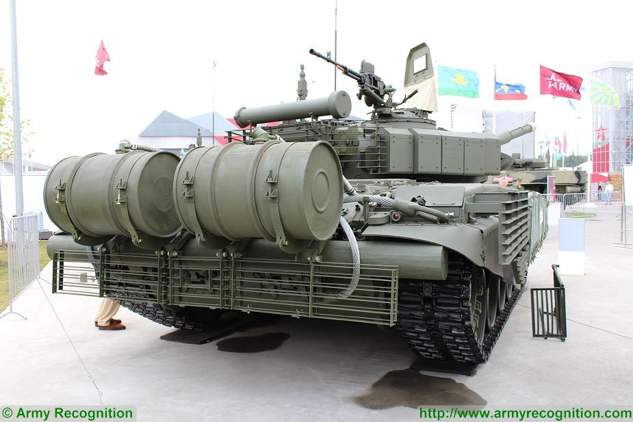 Russian armed forces presents a new version of the t-72B3 main battle tank (MBT) with ERA (Explosive Reactive Armour) at Army-2017, the International Military Technical Forum in Moscow, Russia. The T-72B3 MBT is now the backbone of the Russian army tank division.