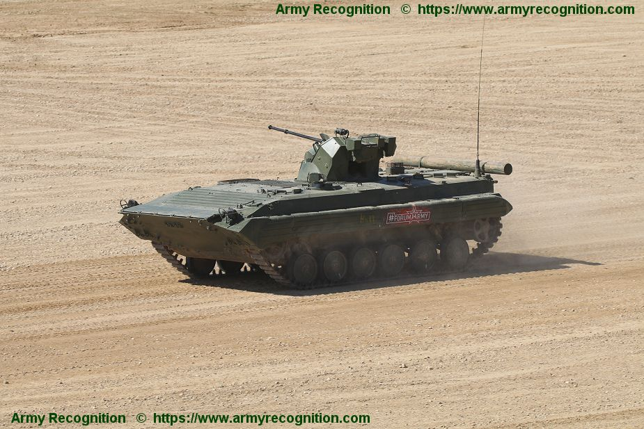 Army 2018 New BMP 1AM tracked armored IFV fitted with BTR 82A 30mm turret 925 001