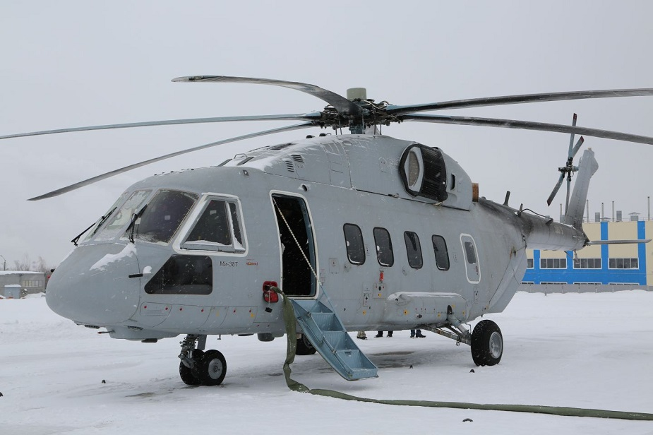 Army 2019 Russian Helicopters presents Mi 38T helicopter