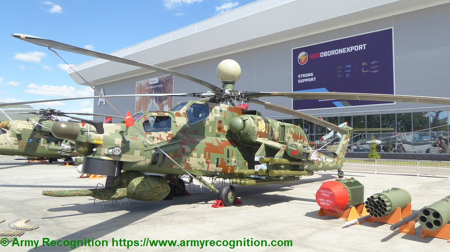 Army 2019 Serial Mi 28NM and modernized Ka 52 helicopters unveiled Mi 28NM