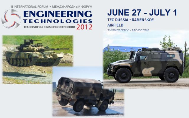 Forum engineering technologies defence Exhibition 2012 pictures photos images video Moscow Russia Zukovsky air base