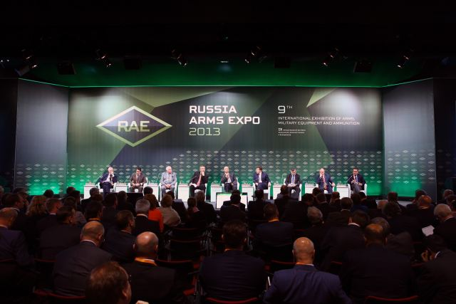 Plenary discussion Global competition and armaments cooperation will open Russia Arms Expo 2015 640 001