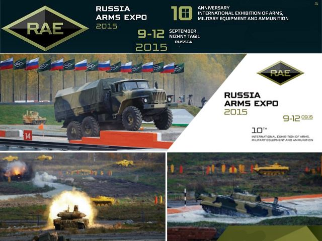 RAE 2015 Russian Expo Arms 2015 pictures Web TV Television video International defense exhibition of arms military equipment ammunition Nizhny Tagil Russia defense industry military technology