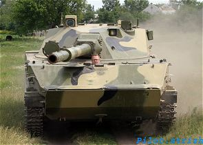 2S25 Sprut-SD self-propelled anti-tank gun technical data sheet specifications information intelligence pictures photos images description identification Russian army Russia tracked military armoured vehicle