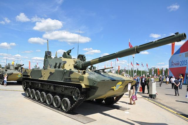 2S25M Sprut-SDM1 air-droppable 125mm self-propelled anti-tank gun Russia Russian army military equipment defense industry 640 001