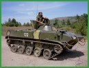 BMD-1 airborne infantry armoured fighting vehicle technical data sheet specifications information intelligence pictures photos images description identification Russian army Russia tracked military armoured vehicle