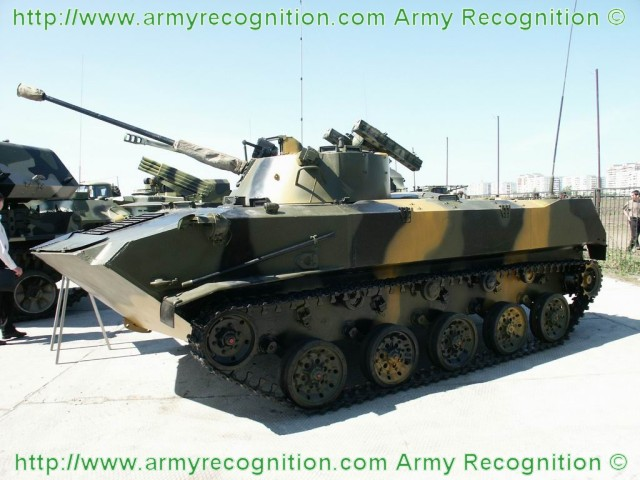 BMD-2 airborne infantry armoured fighting vehicle technical data sheet specifications information intelligence pictures photos images description identification Russian army Russia tracked military armoured vehicle