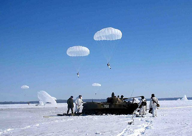 From the 13 to 17 February 202, the Russian airborne and Navy troops carried out several military exercises with more than 4,500 parachute jumps.