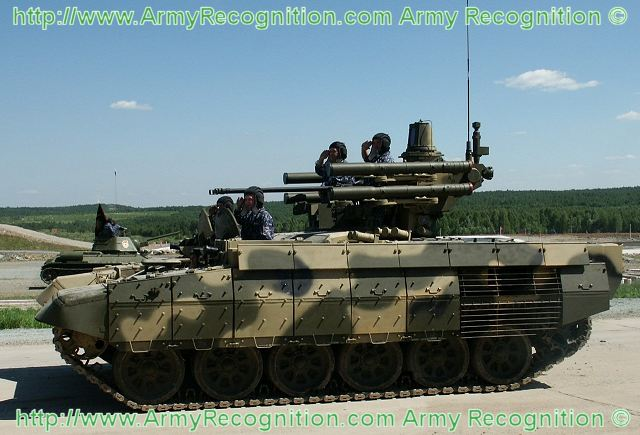 A new version of the BMPT, the Terminator 2, a multipurpose tank and infantry support vehicle, will make its debut Sept. 25 at the Russia Arms EXPO 2013 in Nizhny Tagil. The manufacturer of Russia's main battle tank, Uralvagonzavod, plans to unveil a new tank support fighting vehicle during the Russian Expo Arms 2013, which will be held from the 25 to 28 September 2013 in Nizhny Tagil, Russia.