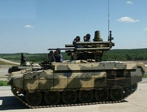 BMPT BMP-T tank support infantry fighting combat armoured vehicle technical data sheet information description pictures photos images identification intelligence Terminator Russia Russian army