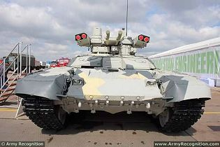 BMPT-72 Terminator 2 tank support armoured fighting vehicle technical data sheet specifications information description pictures photos images video intelligence identification Uralvagonzavod Russia Russian Military army defence industry military technology equipment