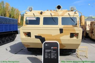 DT-10PM two-section tracked all-terrain amphibious carrier technical data sheet specifications information description pictures photos images video intelligence identification Russia Russian Military army defence industry military technology equipment