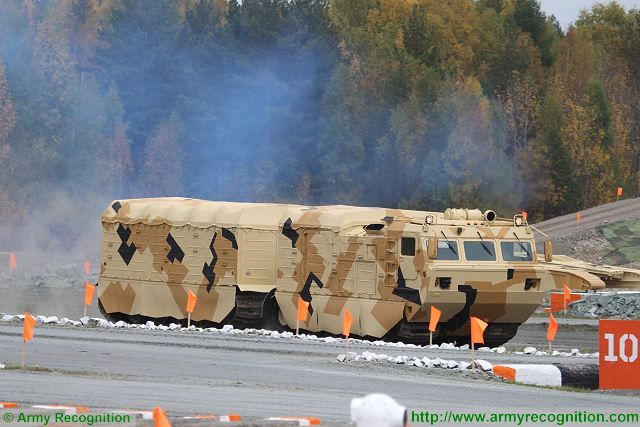 DT-10PM articulated APC tracked armoured personnel carrier Uralvagonzavod Russia Russian defense industry 002